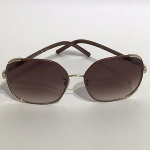 Chloe Brown/Gold Sunglasses